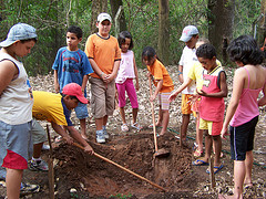 Children involved in tree planting
