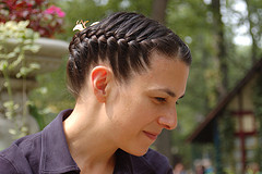 Braided black hair