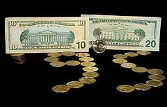 Tens, twenties, pennies